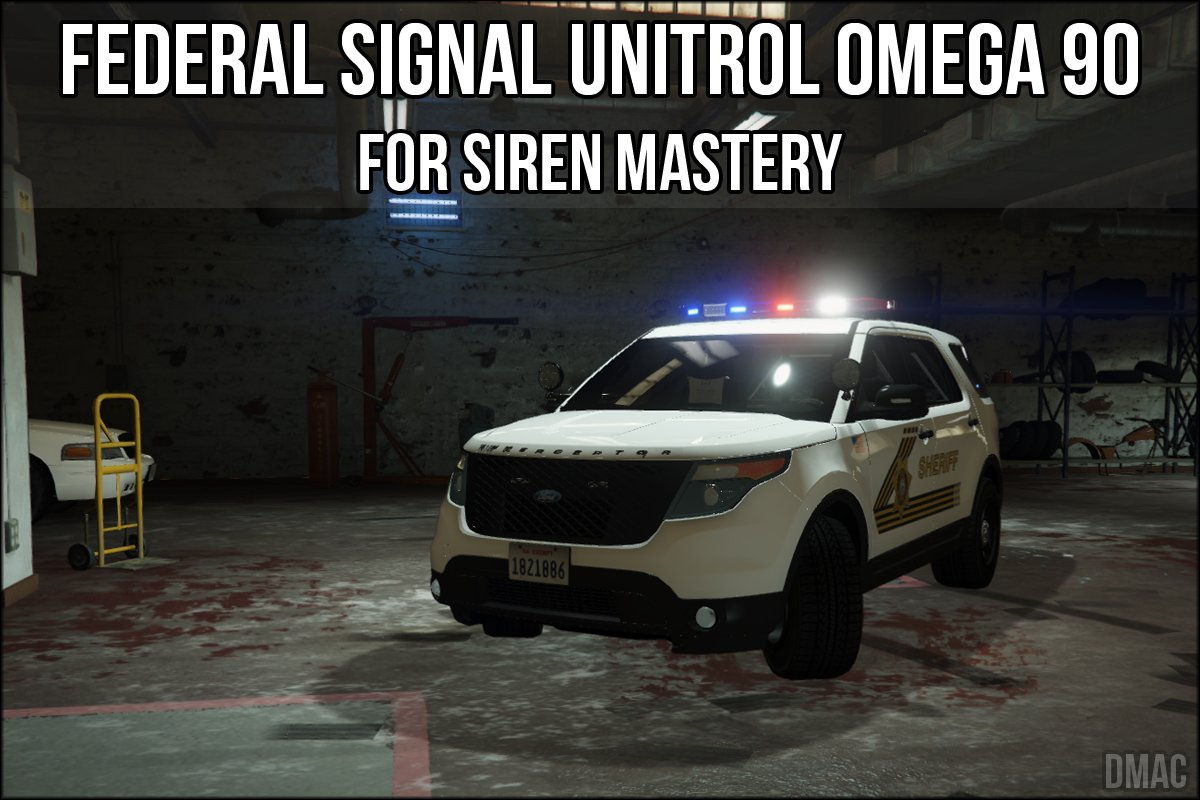 federal signal unitrol omega 90 for siren mastery