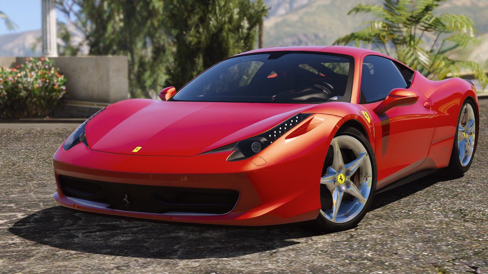 ferrari 458 italia autovista add on replace tuning template gta5. Black Bedroom Furniture Sets. Home Design Ideas