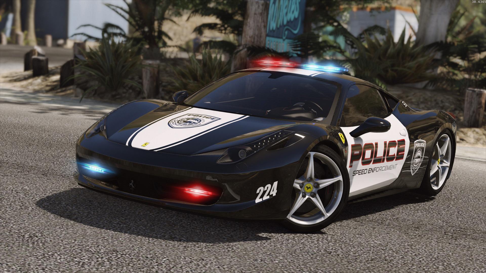 Ferrari 458 Italia Hot Pursuit Police Autovista Add