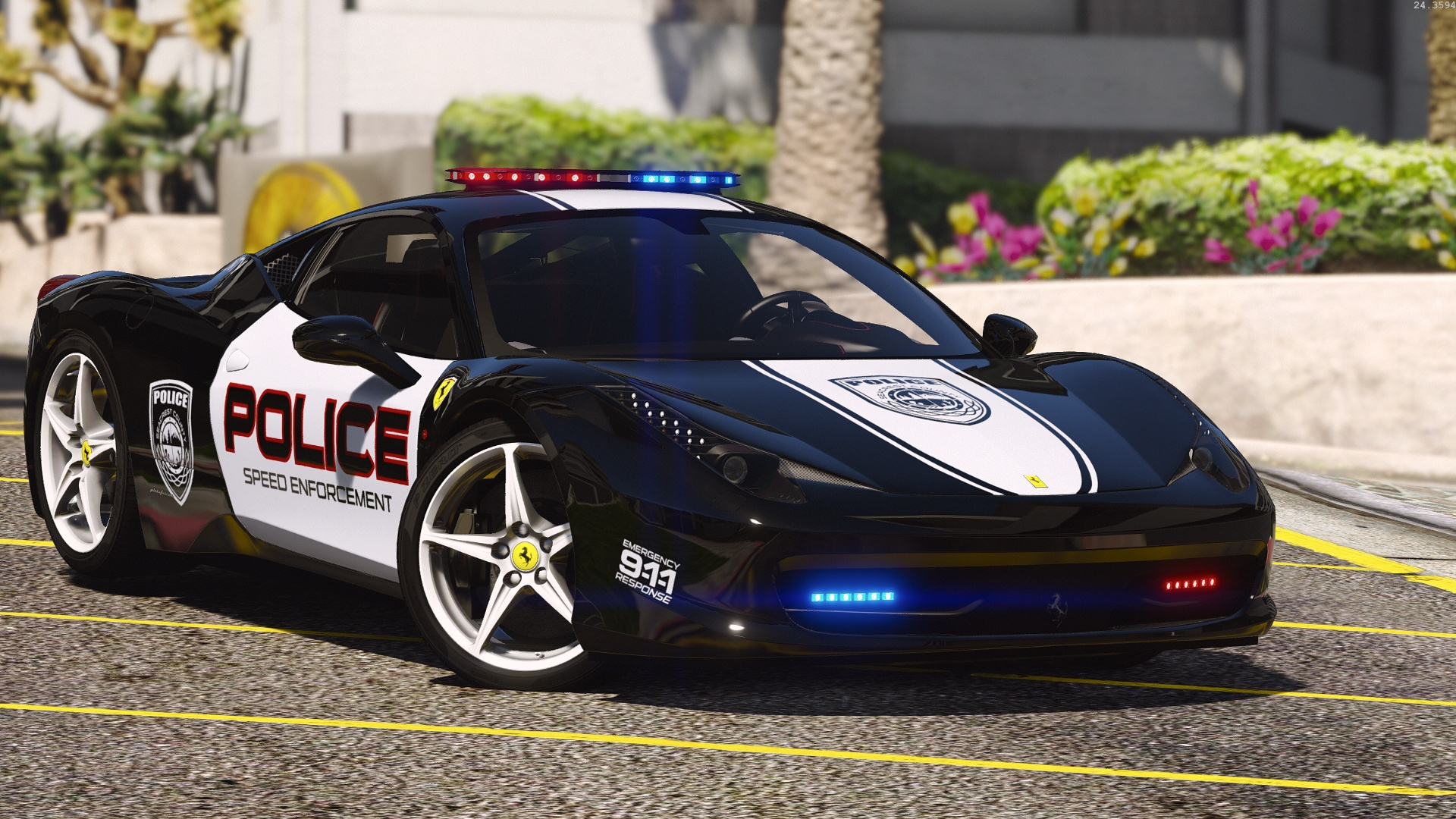 ferrari 458 italia hot pursuit police autovista add on replace template - 2016 Ferrari 458 Replacement