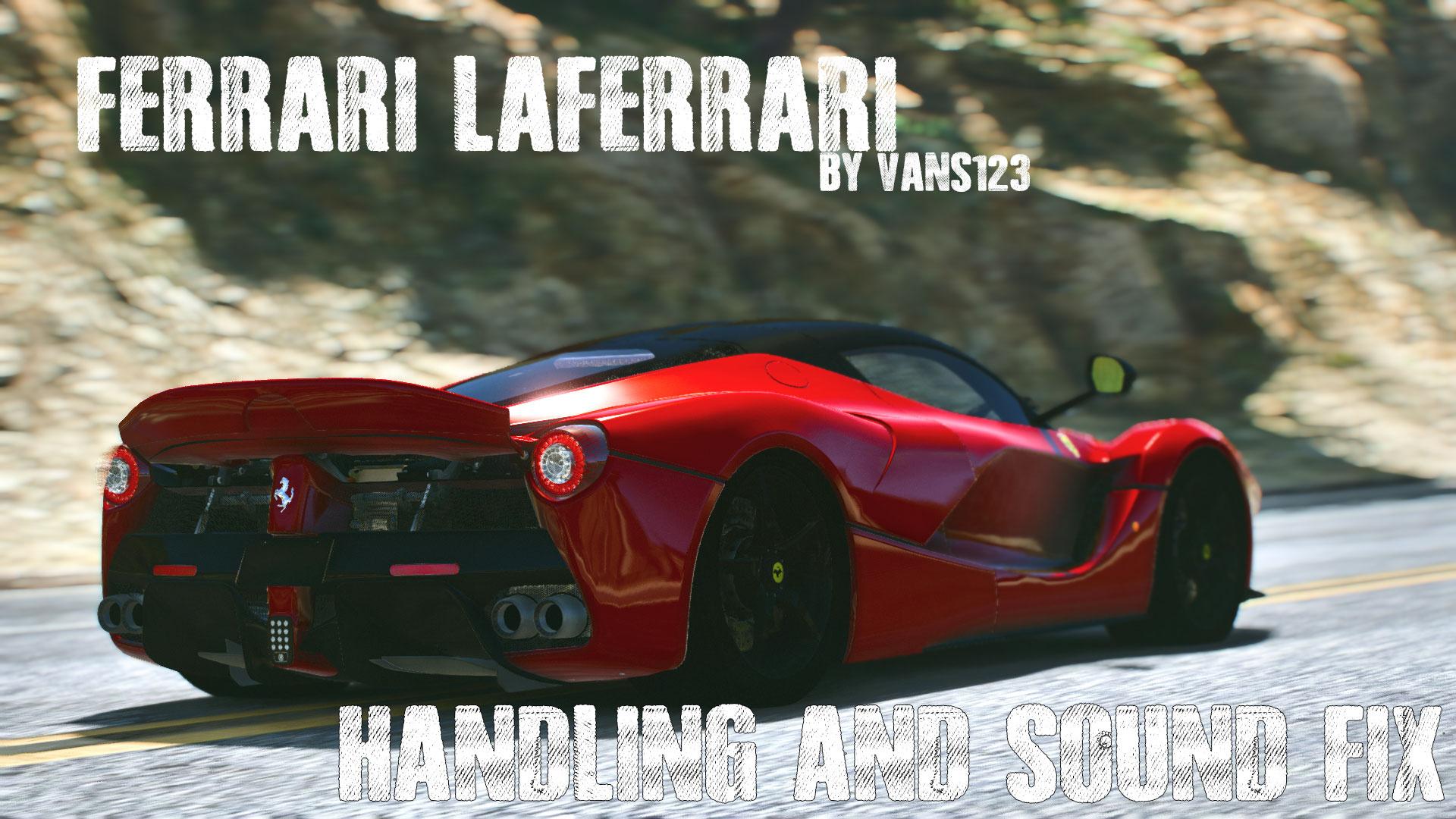 Ferrari Laferrari By Vans123 Handling And Sound Fix Alfa Romeo 4fec55 Cover