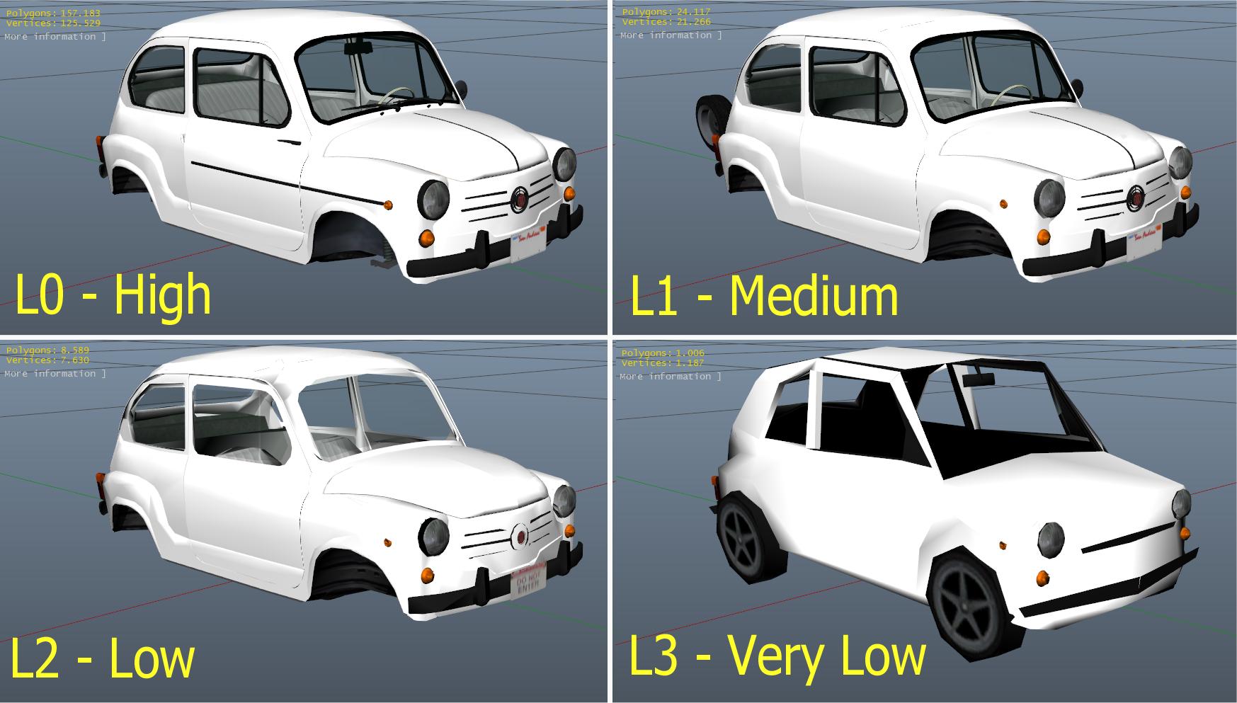 Fiat 600 | Seat 600 | Zastava 750 [Add-On] Suicide doors + Tuning
