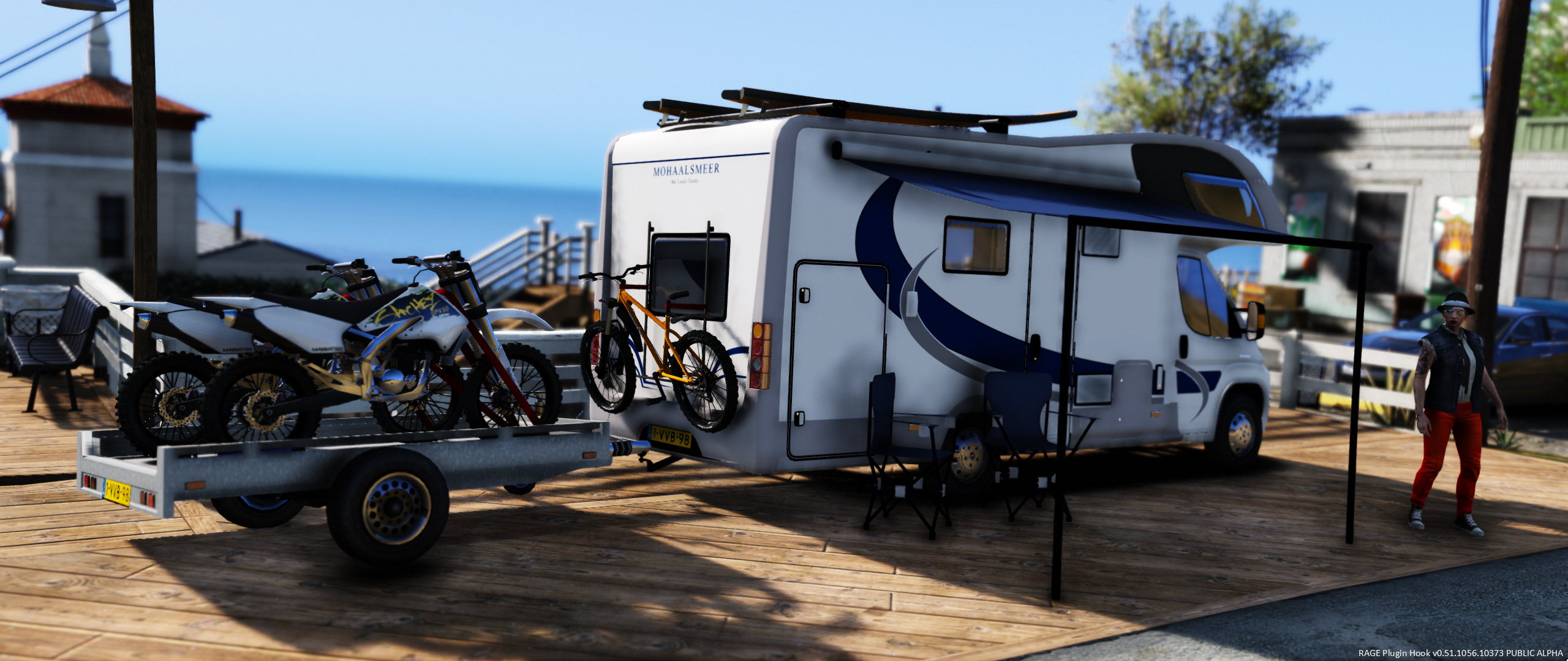 fiat campervan bike trailer gta5. Black Bedroom Furniture Sets. Home Design Ideas