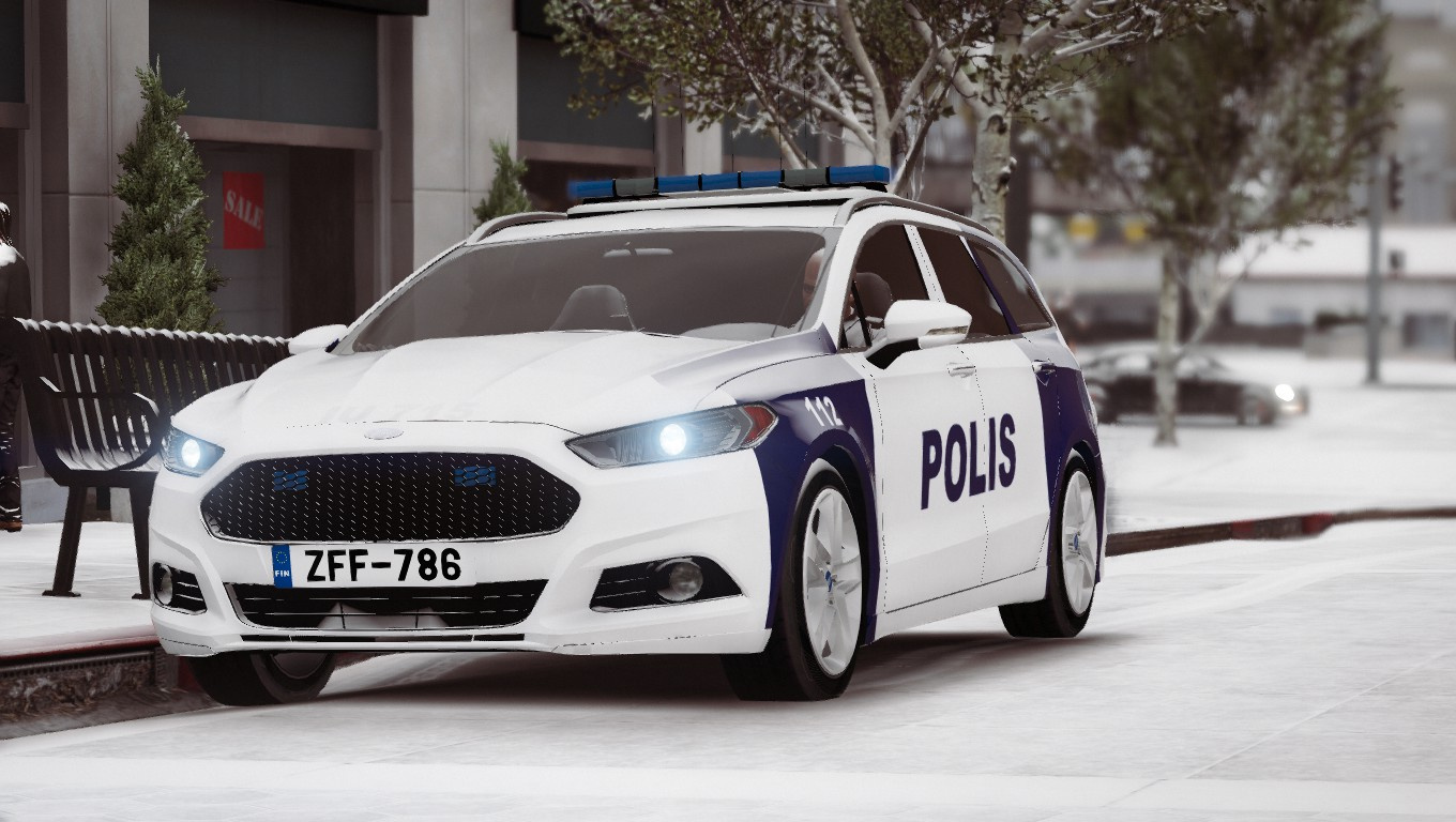 Ford Mondeo 2015 White >> Finnish Police (Poliisi) Ford Mondeo - GTA5-Mods.com
