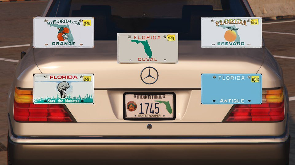 Bb06f0 florida license plate pack & Florida License Plate Pack - GTA5-Mods.com