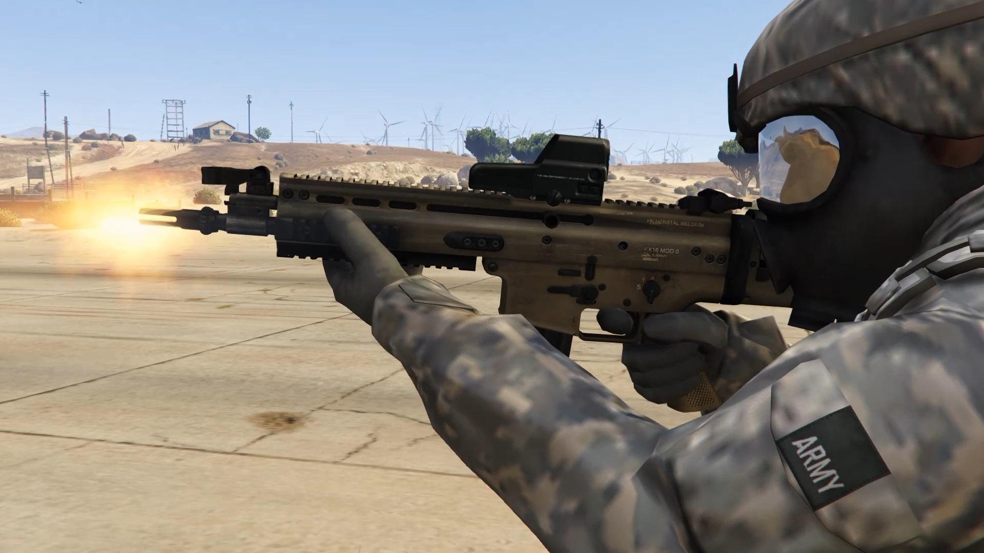 fn scar l scoped non scoped animated gta5 mods com