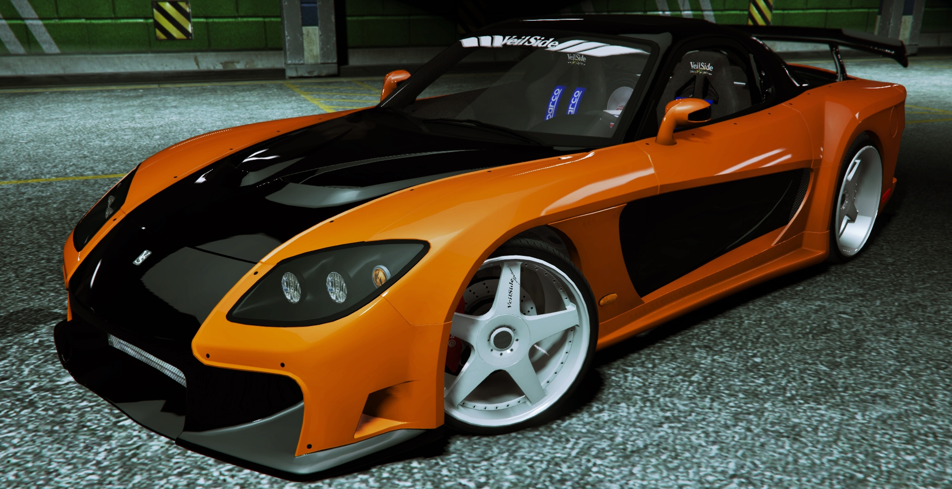 fnf tokyo drift 1997 mazda rx 7 veilside fortune gta5. Black Bedroom Furniture Sets. Home Design Ideas