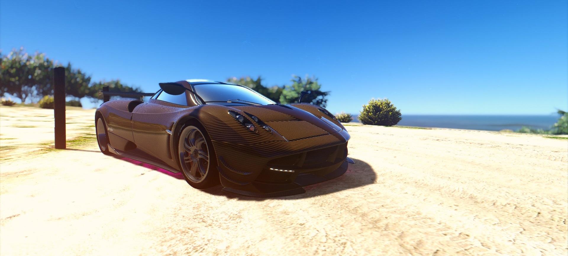 Pagani Huayra Brown Carbon Fiber Livery Gta5 Mods Com