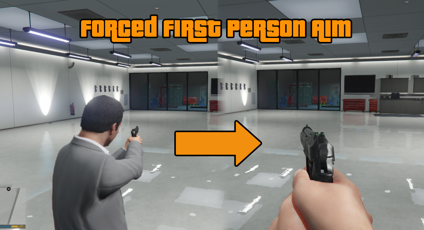 how to change aim in gta 5