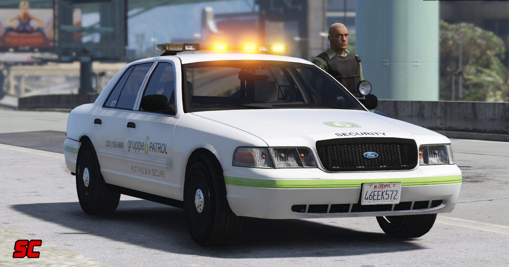 ford crown victoria gruppe 6 security patrol car els gta5. Black Bedroom Furniture Sets. Home Design Ideas