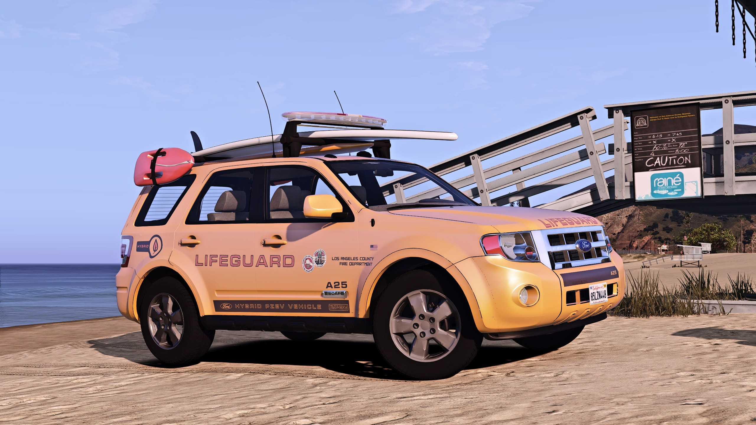 Ford Escape 2012 LA Lifeguard [Add-on/Replace] [ELS|Wipers] - GTA5-Mods.com
