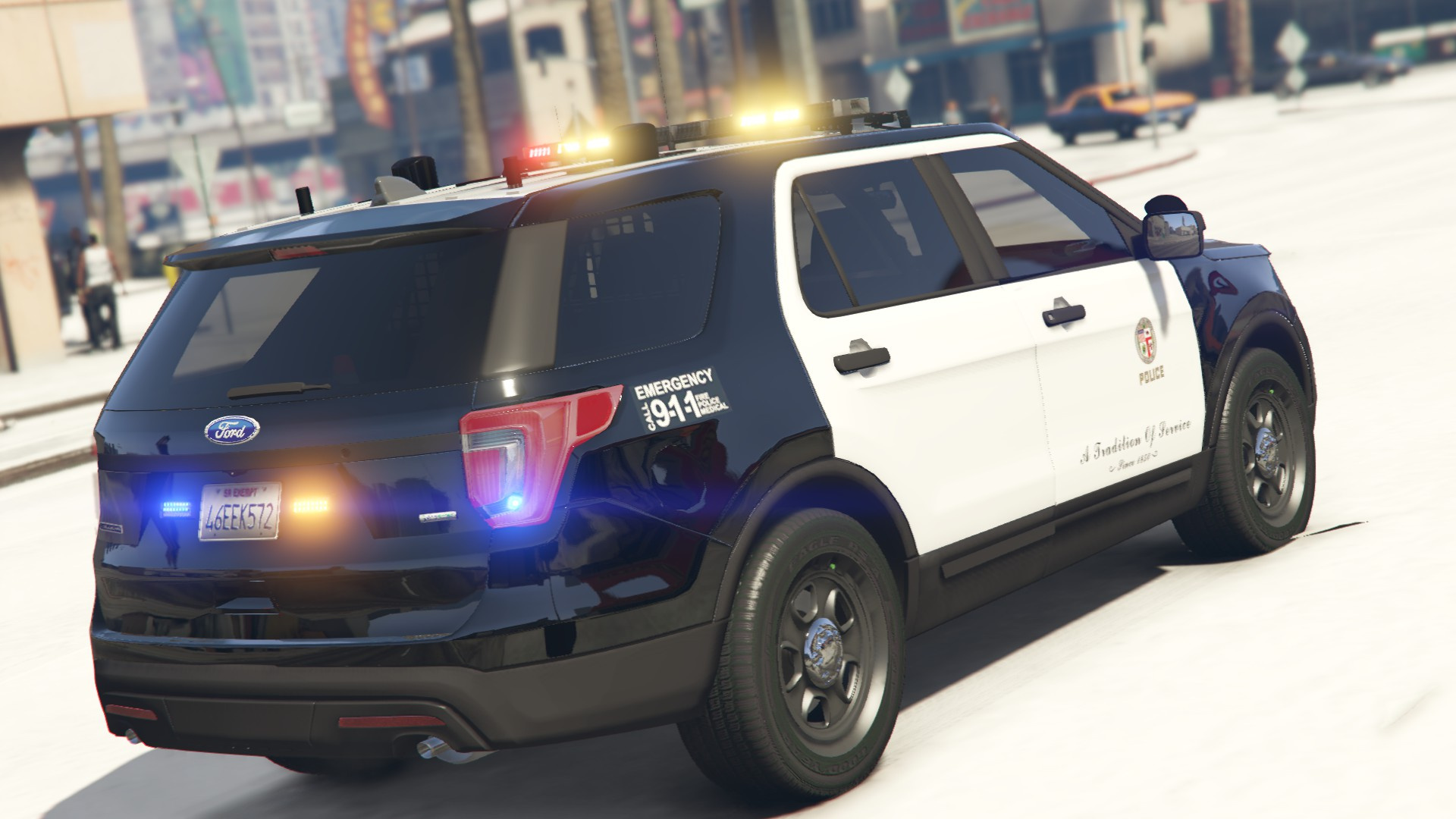 ford explorer  lapd paintjob gta modscom