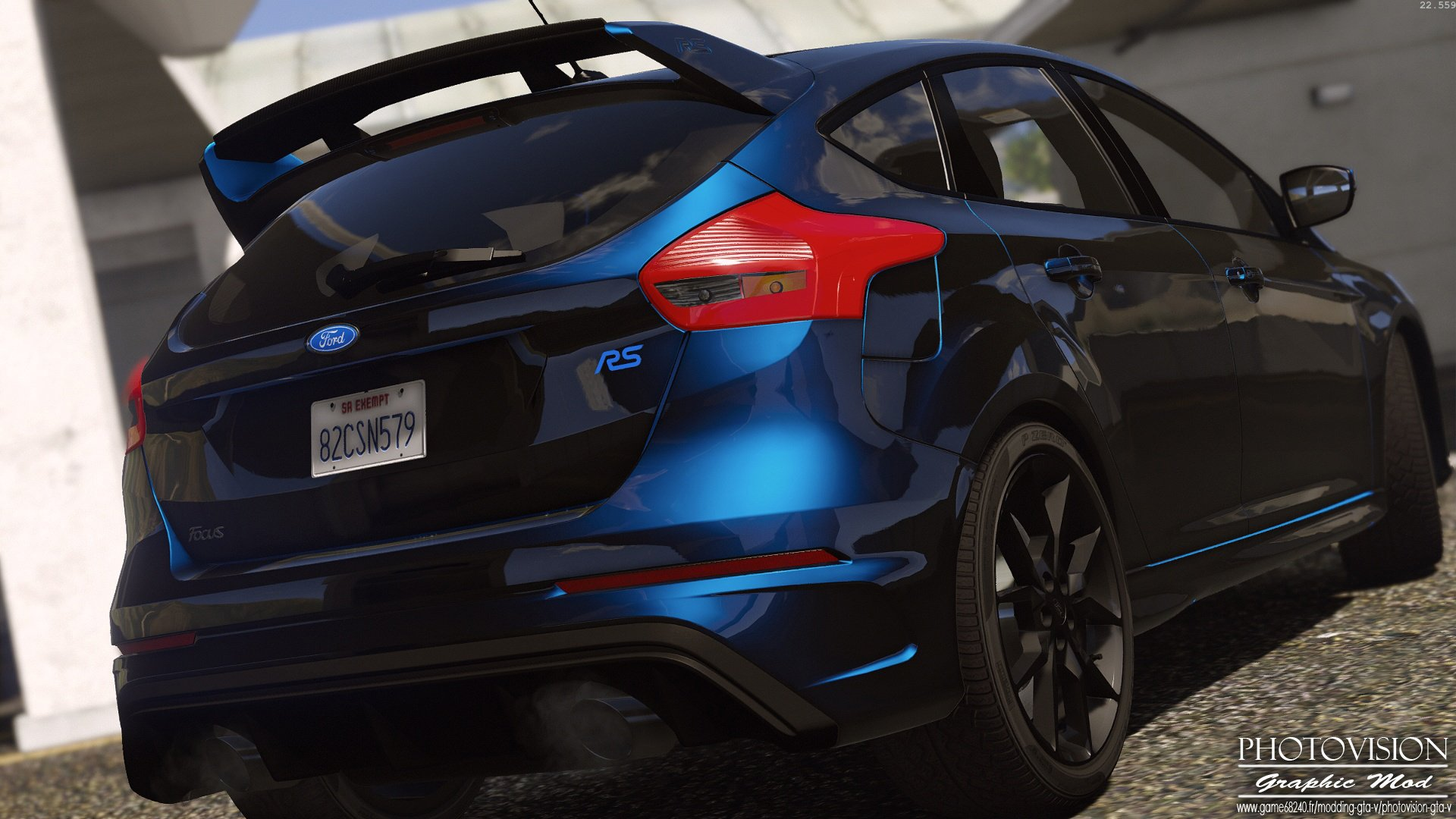 ford focus rs 2017 add on replace tuning template multi livery gta5. Black Bedroom Furniture Sets. Home Design Ideas