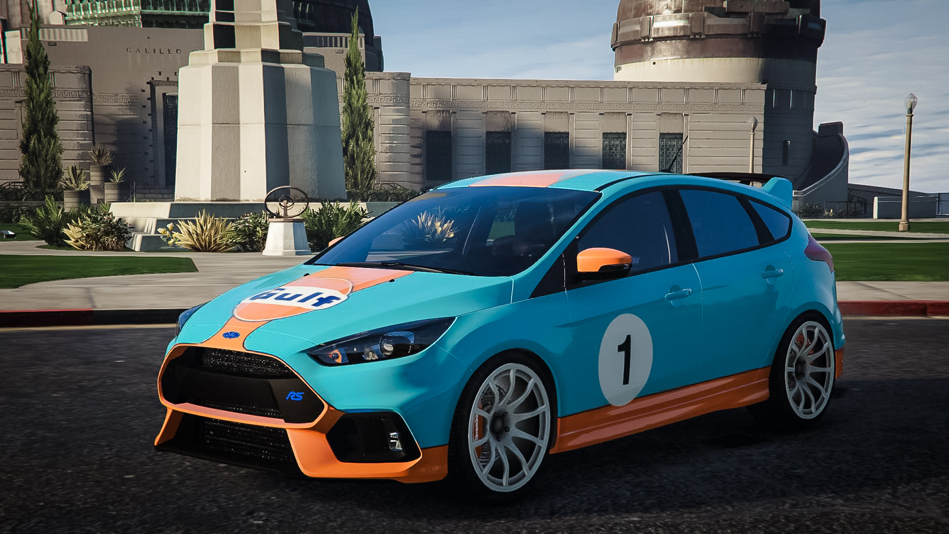 ford focus rs 2017 gulf livery gta5. Black Bedroom Furniture Sets. Home Design Ideas