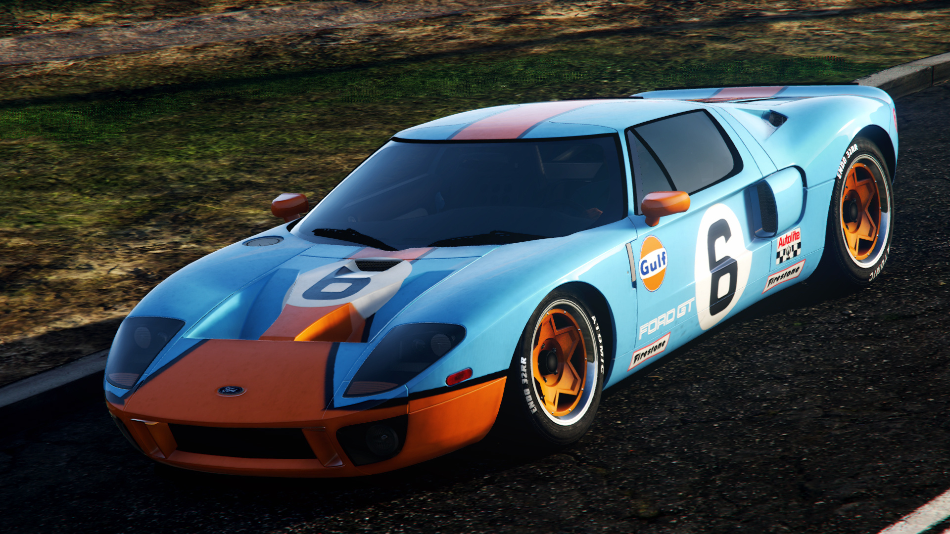 Ford Gt  Gulf Paintjob  Colors For Original Livery