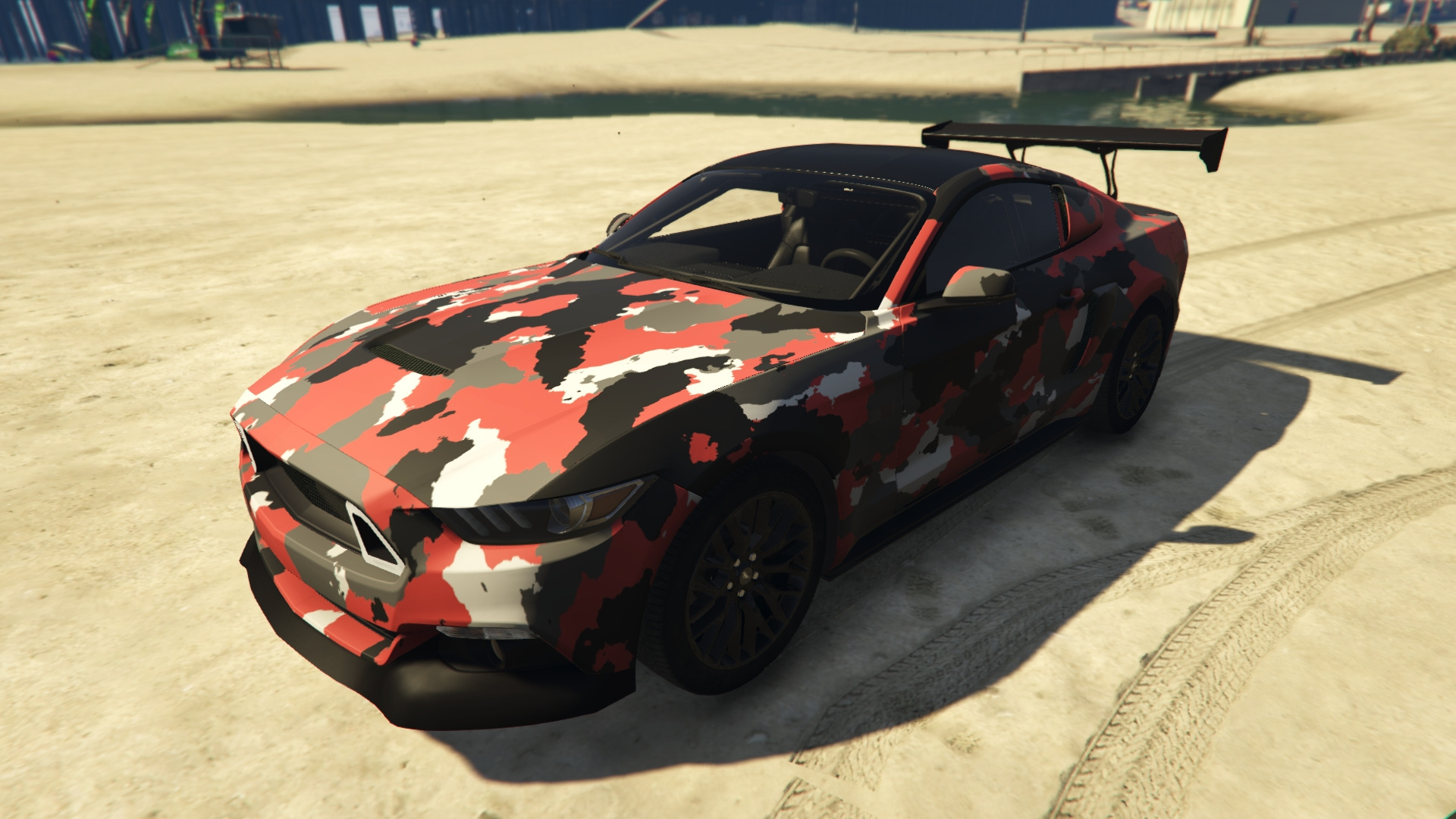 Ford Mustang Gt Camouflage Paintjob Gta5 Mods Com