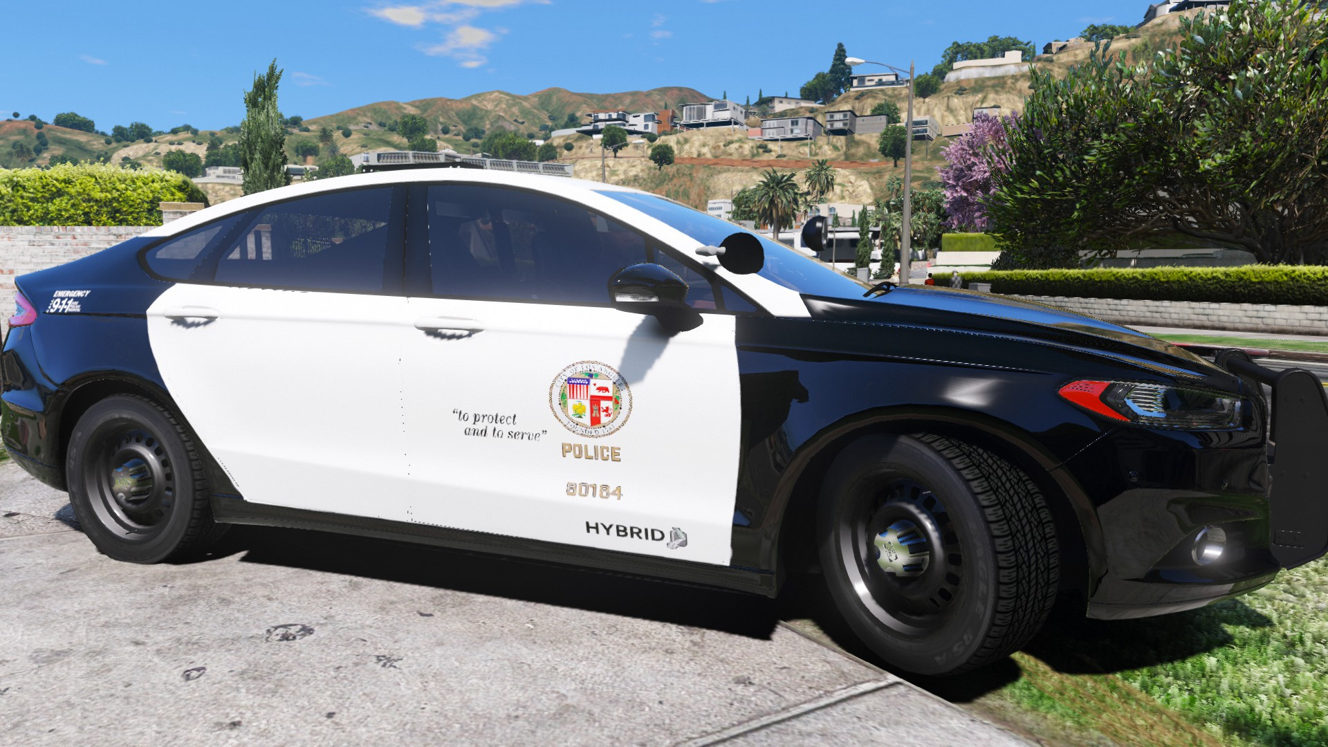 ford police responder hybrid replace els gta5. Black Bedroom Furniture Sets. Home Design Ideas