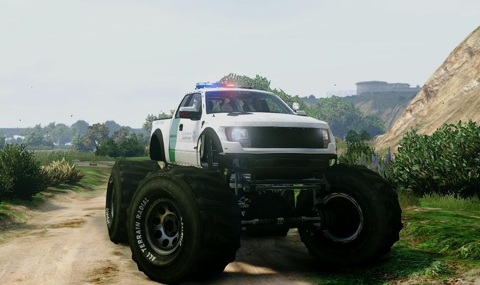 Ford Raptor Border Patrol Monster Truck Gta5 Mods Com