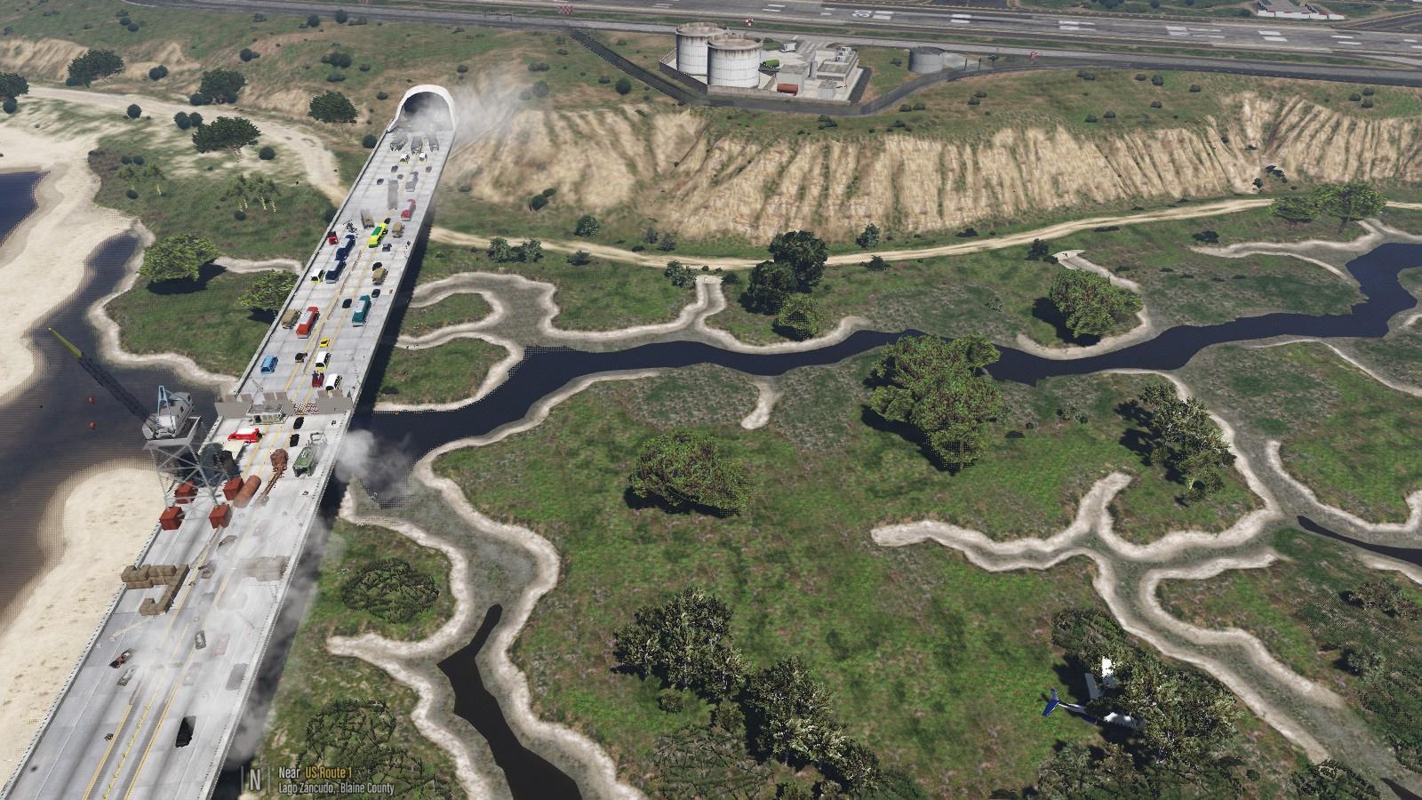 Fort Zancudo Bridge Zombies [Menyoo] [LITE included] - GTA5-Mods com