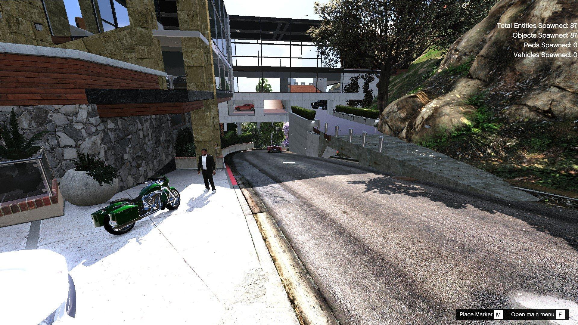 Franklin Mega Garage Ymap Menyoo Gta5 Mods Com