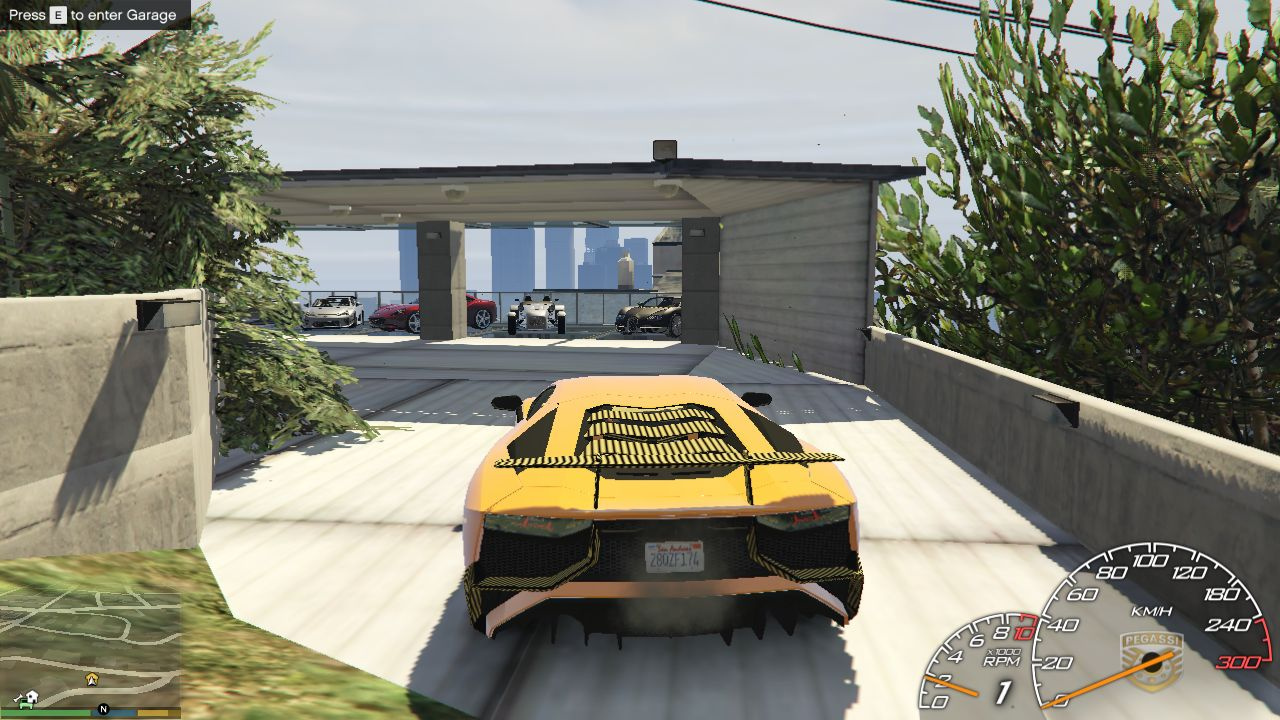 Franklin 39 s garage 3 map editor spg gta5 for Five car garage
