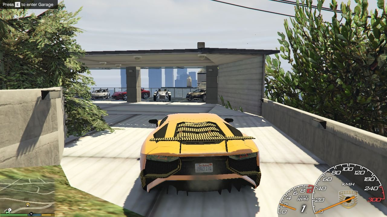 Franklin 39 s garage 3 map editor spg gta5 for 5 car garage