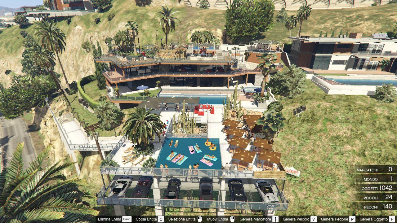 Franklins Garage 4  Party Terrace Map Editor  SPG  GTA5Modscom