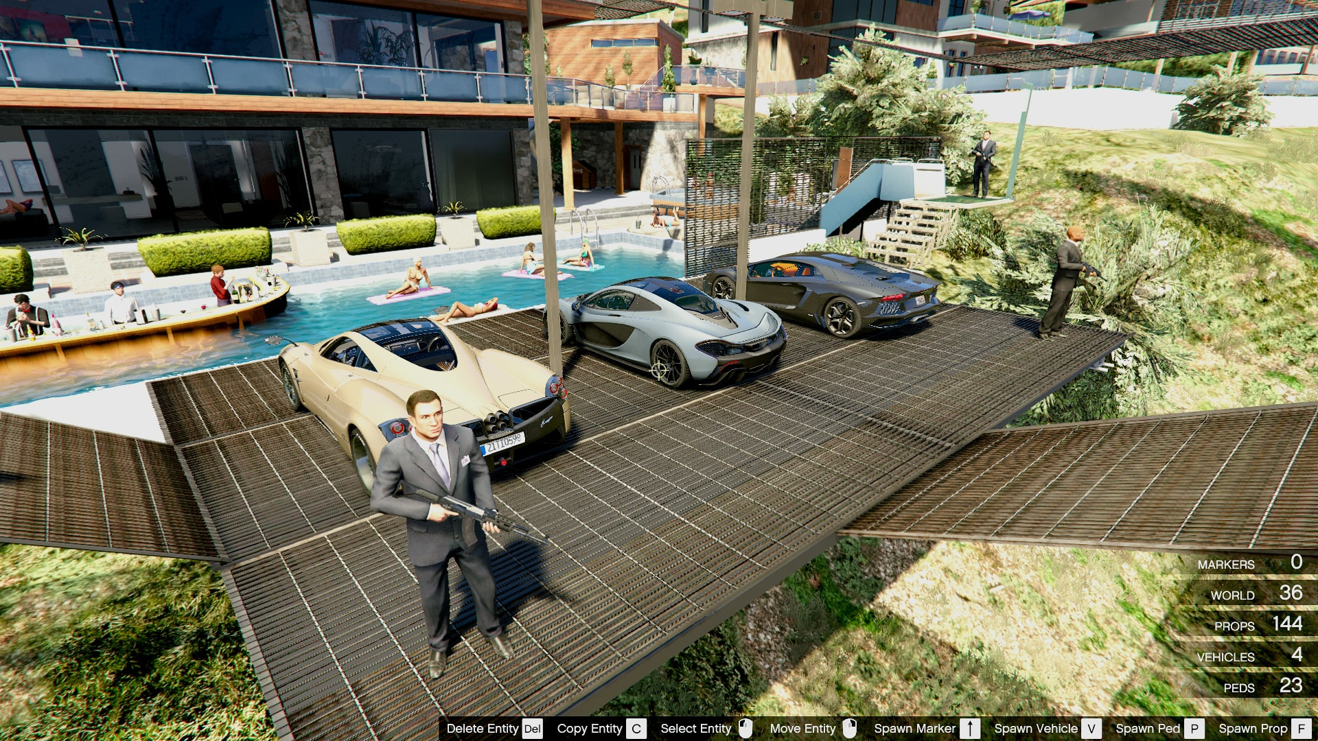Franklin's Playboy Safehouse (Helipad/Car Park) - GTA5 ...