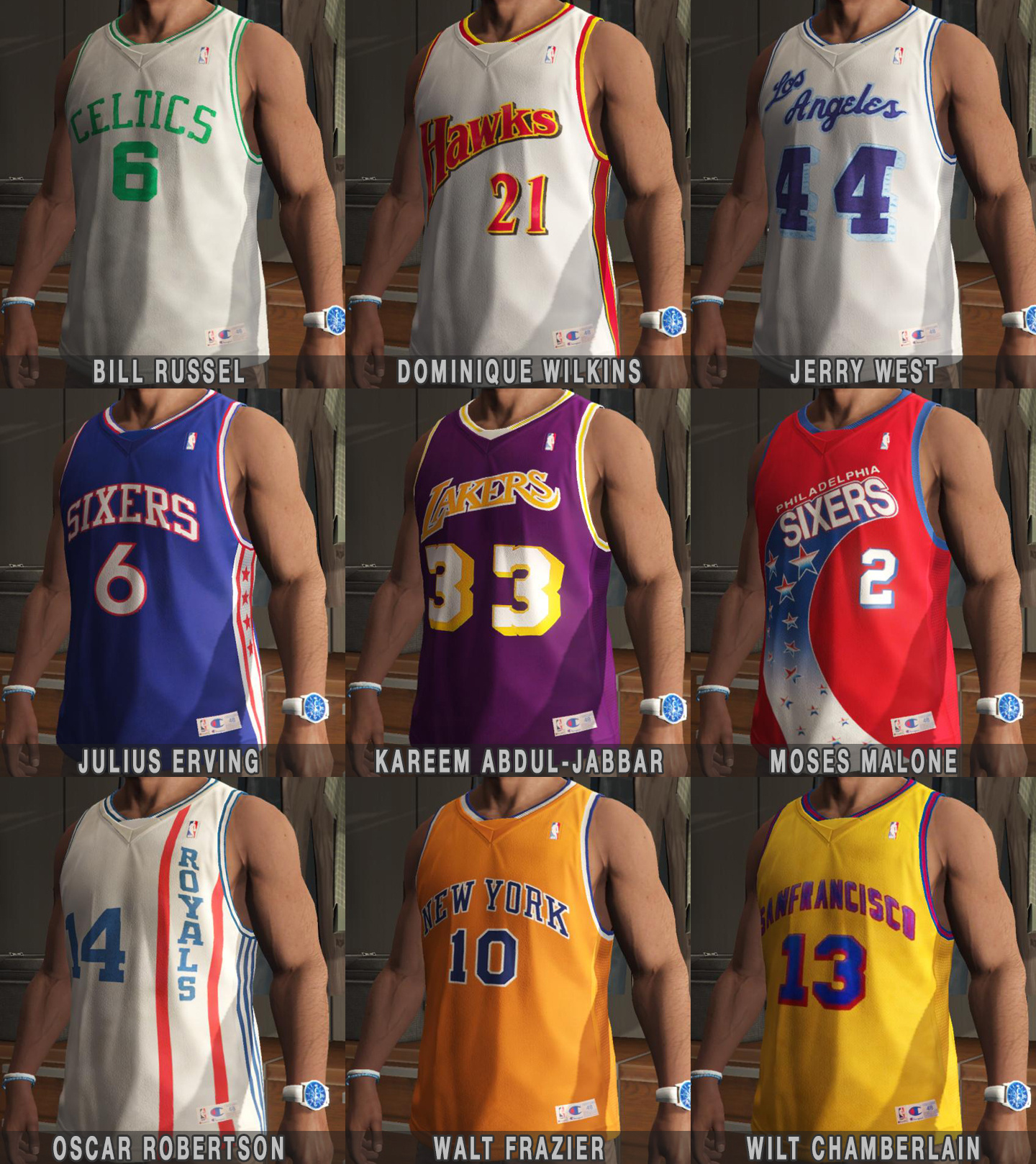 Franklin Shirts Pack Nba The Legends further Best Basketball Players By Uniform additionally Tiny Archibald together with Thunder Alternate Jerseys further The Original Collectors Series Cincinnati Gardens Museum Sports Memorabilia Vintage Concert Posters. on oscar robertson cincinnati royals jersey