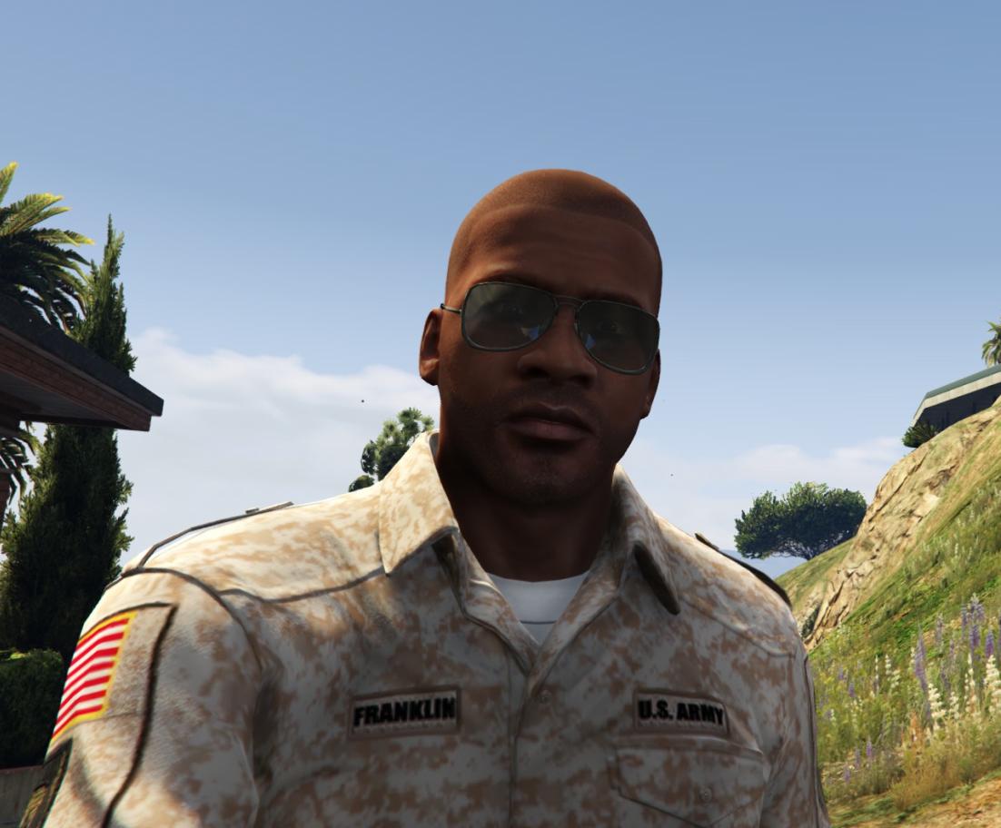 franklin u s army uniform soldier gta5 mods com