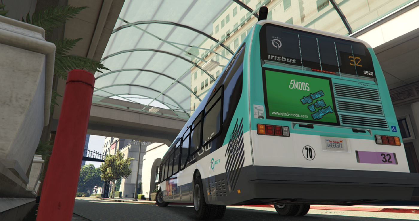 french bus textures ratp paris high details gta5. Black Bedroom Furniture Sets. Home Design Ideas