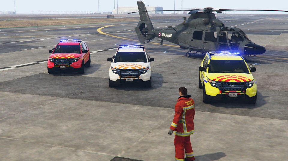 french ford explorer pack protection civile marins pompiers samu 13 gta5. Black Bedroom Furniture Sets. Home Design Ideas