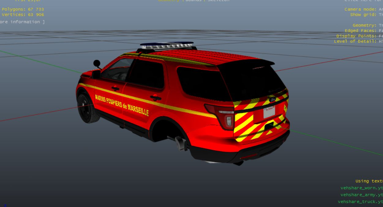 french ford explorer pack protection civile marins pompiers samu 13 gta5. Black Bedroom Furniture Sets. Home Design Ideas