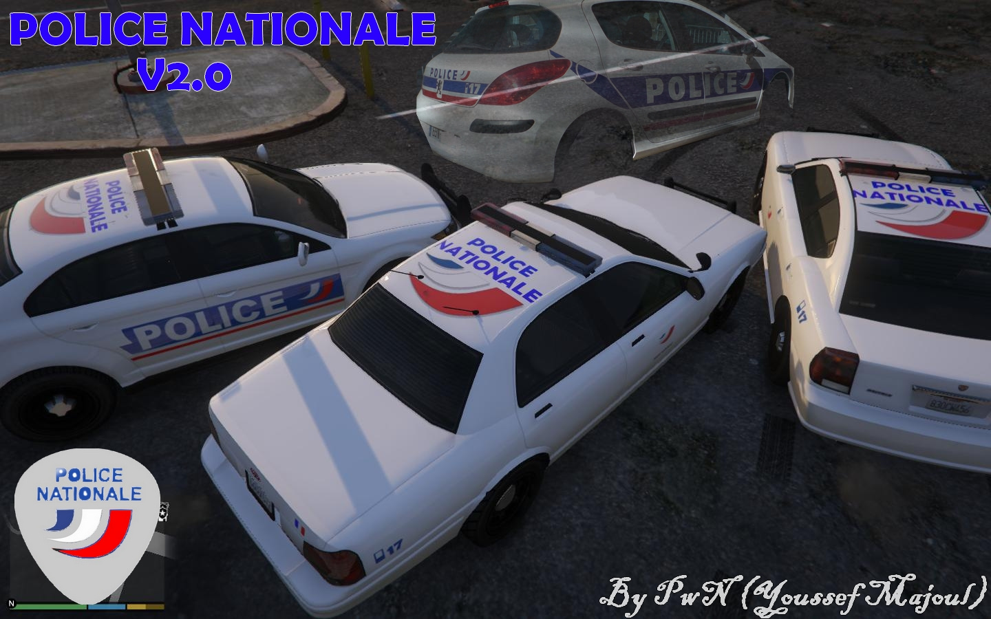 french police nationale pack gta5. Black Bedroom Furniture Sets. Home Design Ideas