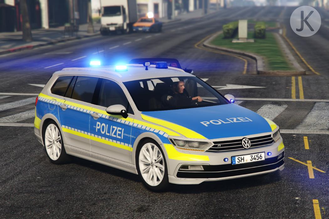 Funkstreifenwagen Polizei Schleswig Holstein Volkswagen