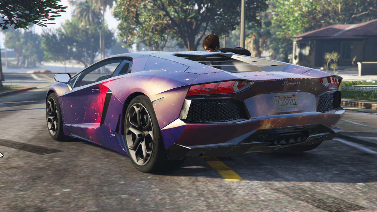 Galaxy Wrap For Lamborghini Aventador Gta5 Mods Com