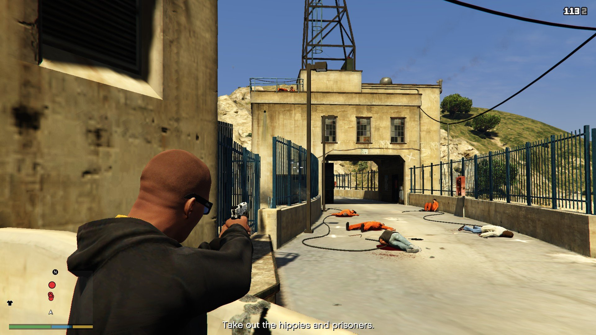 how to get guns at hideout missions gta