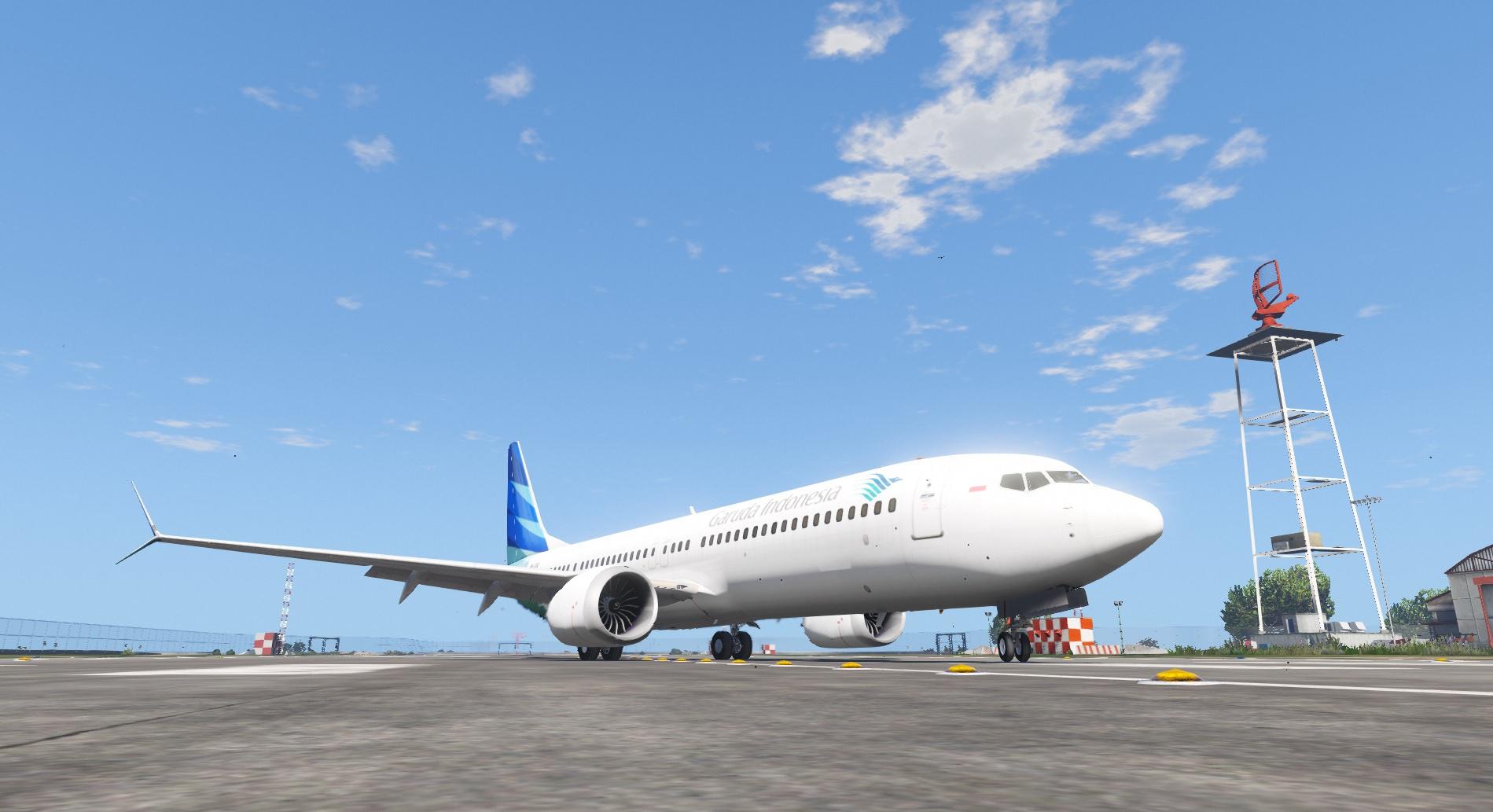 Garuda Indonesia Livery for Boeing 737 MAX 9 - GTA5-Mods com