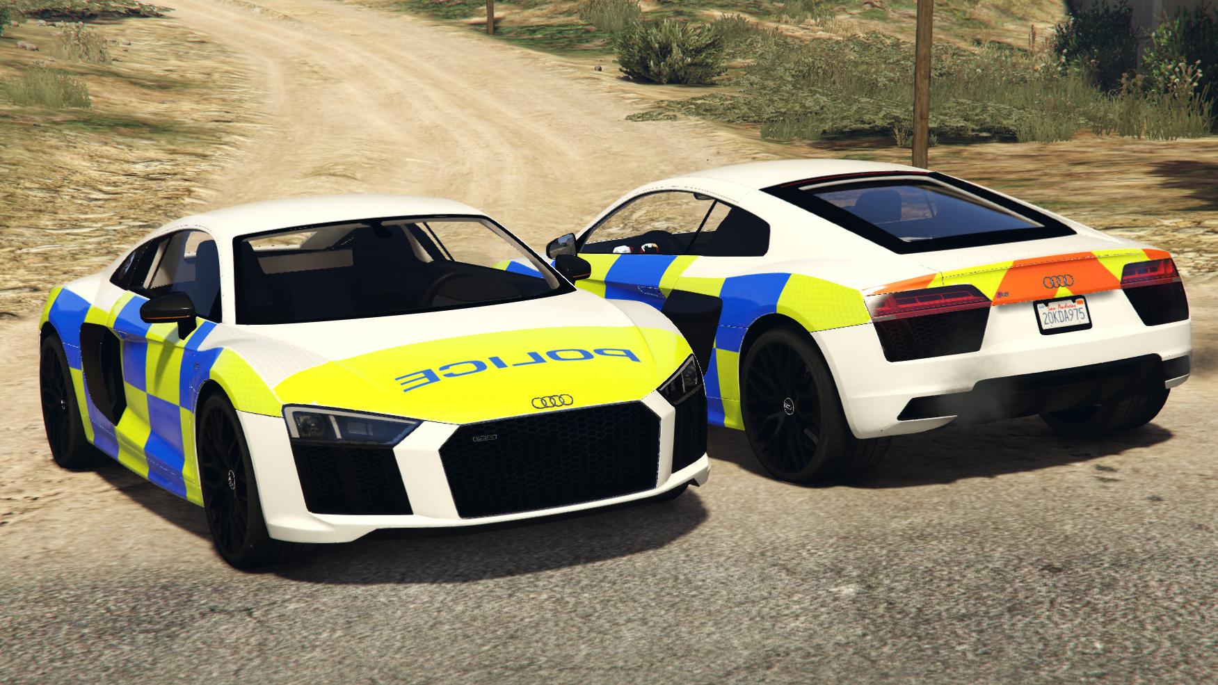 Generic British Police Skin For Abdulrhman1 S Audi R8 No Lights