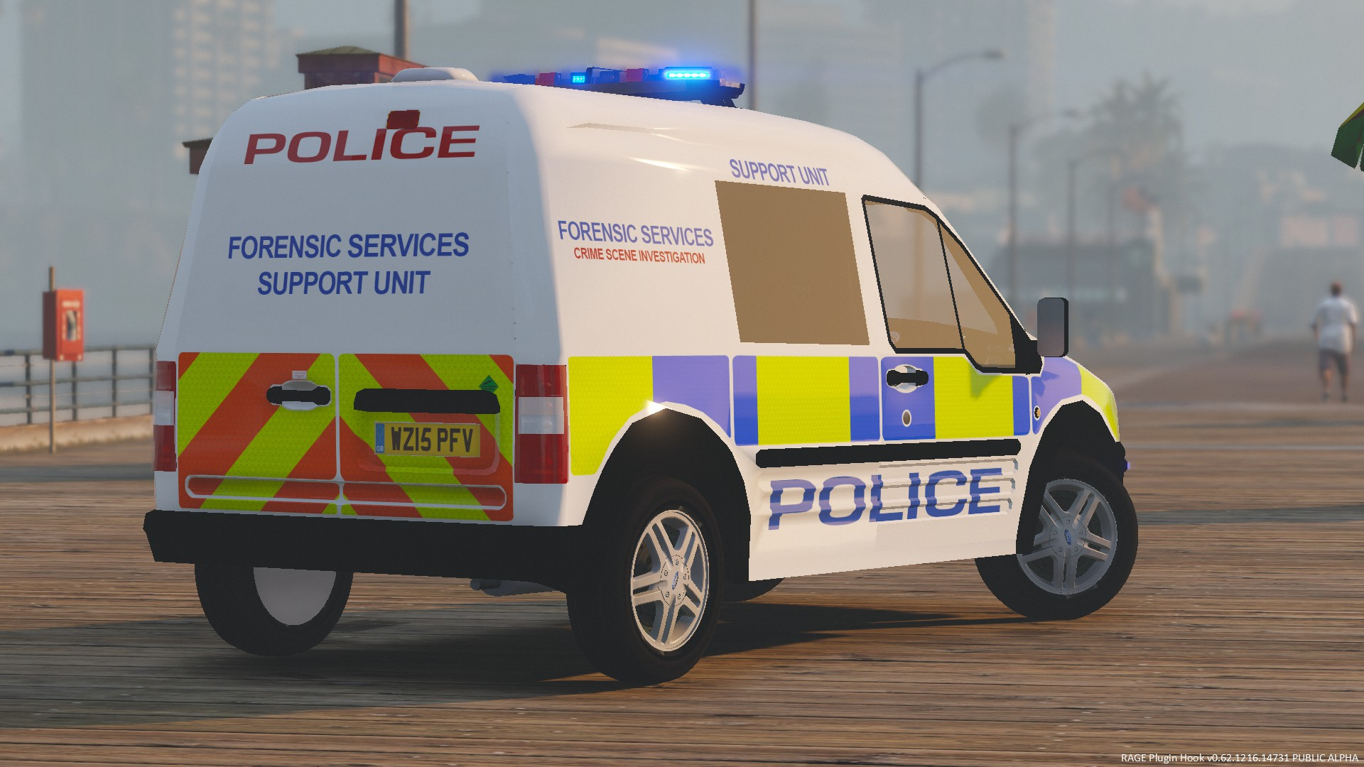 Generic Police Forensic Services Van Paintjob - GTA5 ...
