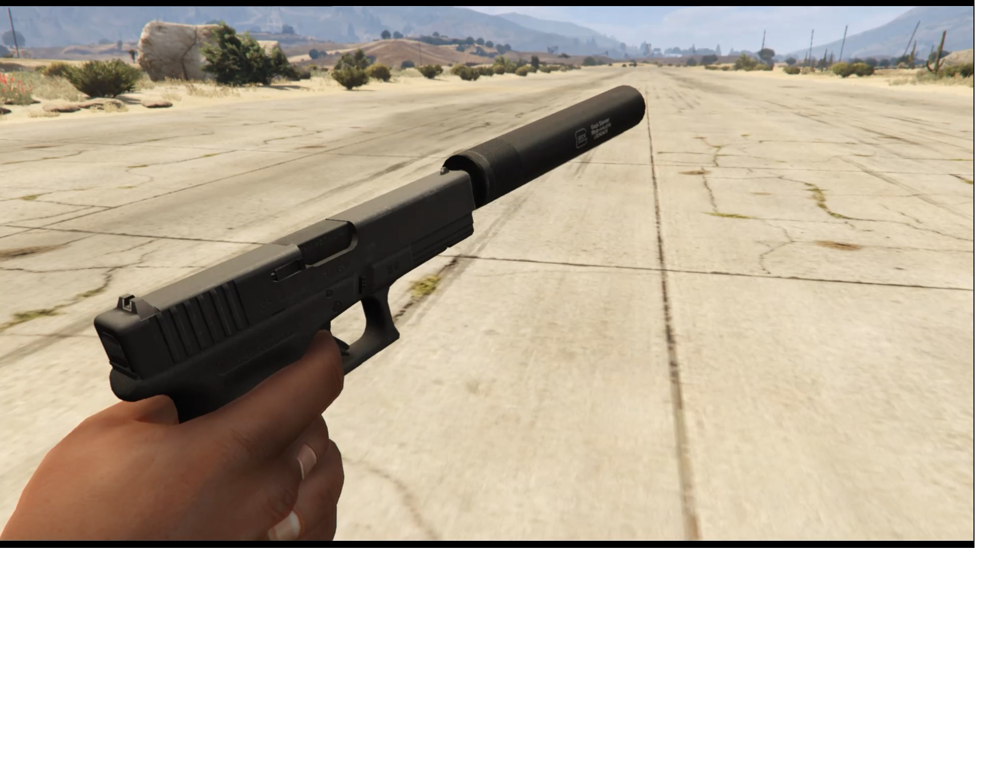 glock 17 with and without silencer gta5 mods com
