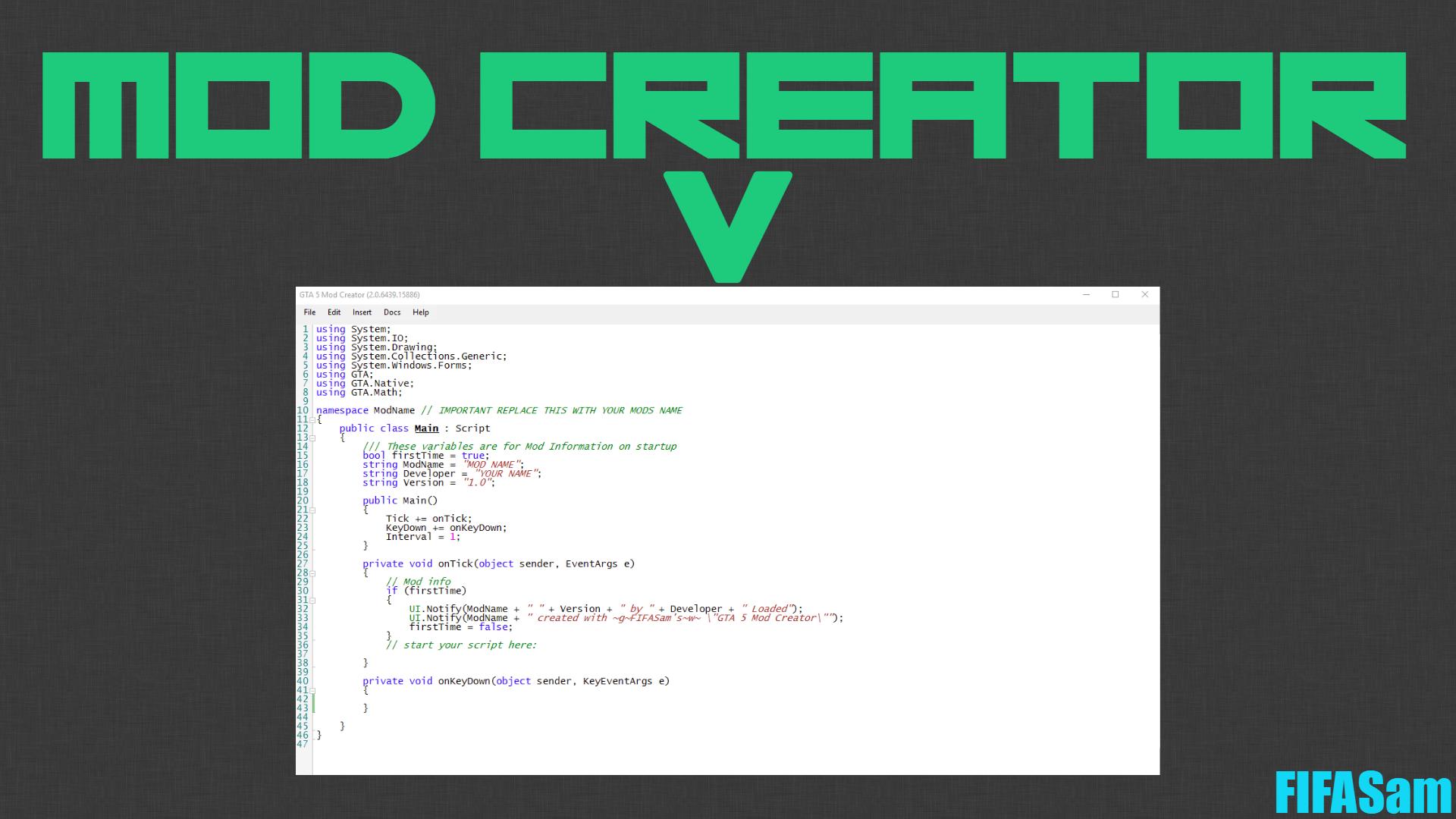 V Creator (Mod Creator) - GTA5-Mods com