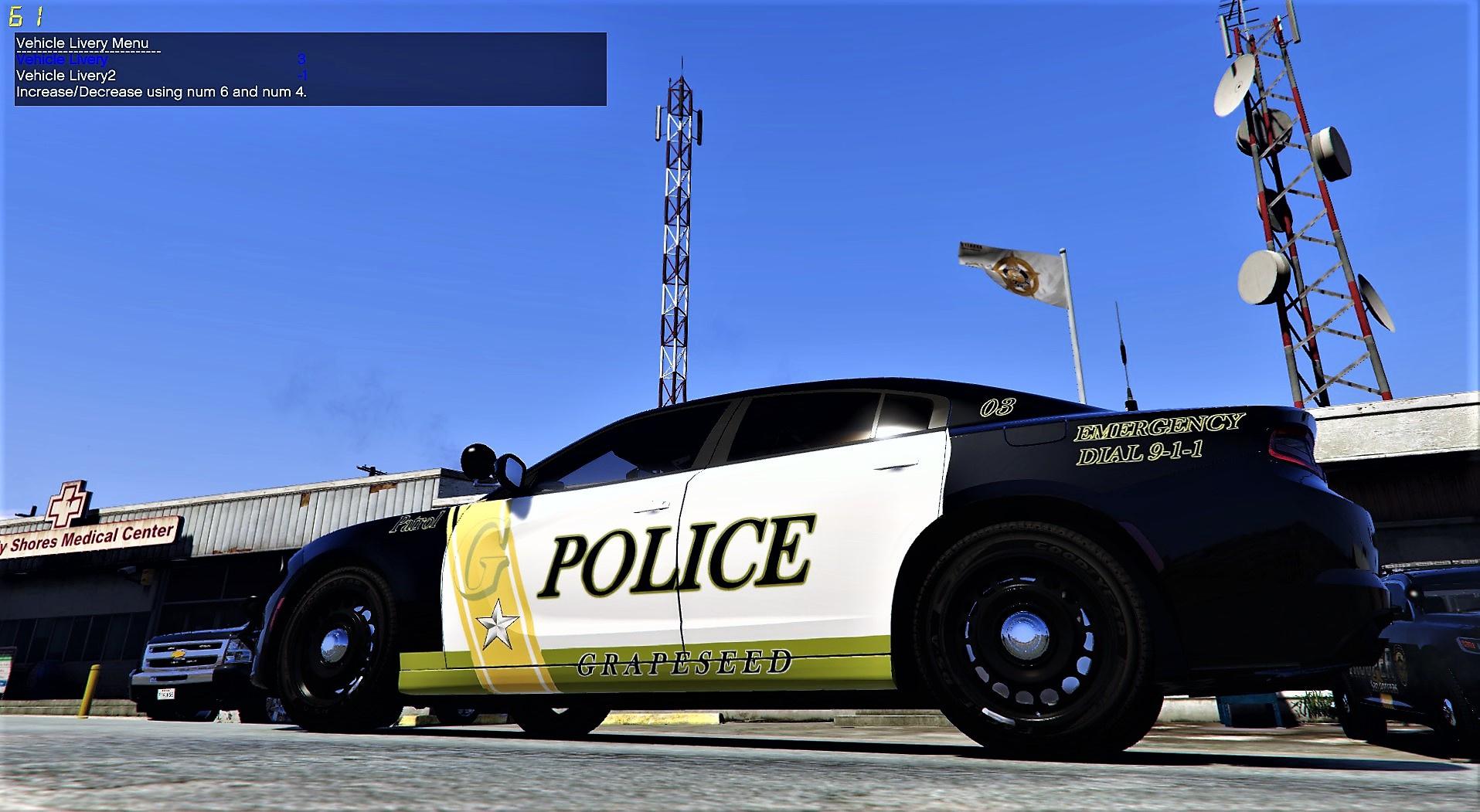 grapeseed police department based off of cleveland tx. Black Bedroom Furniture Sets. Home Design Ideas