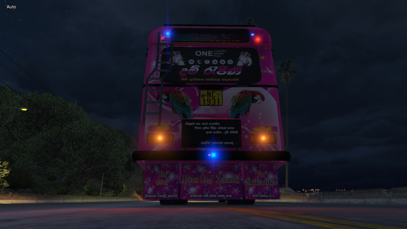 GTA 5 DAMRAJINI BUS (ADDON-OIV/REPLACE) WITH HORN AND LIGHTS