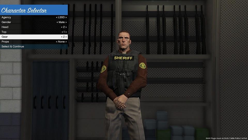 GTA San Andreas Style Sheriff Uniform LSSD - GTA5-Mods com