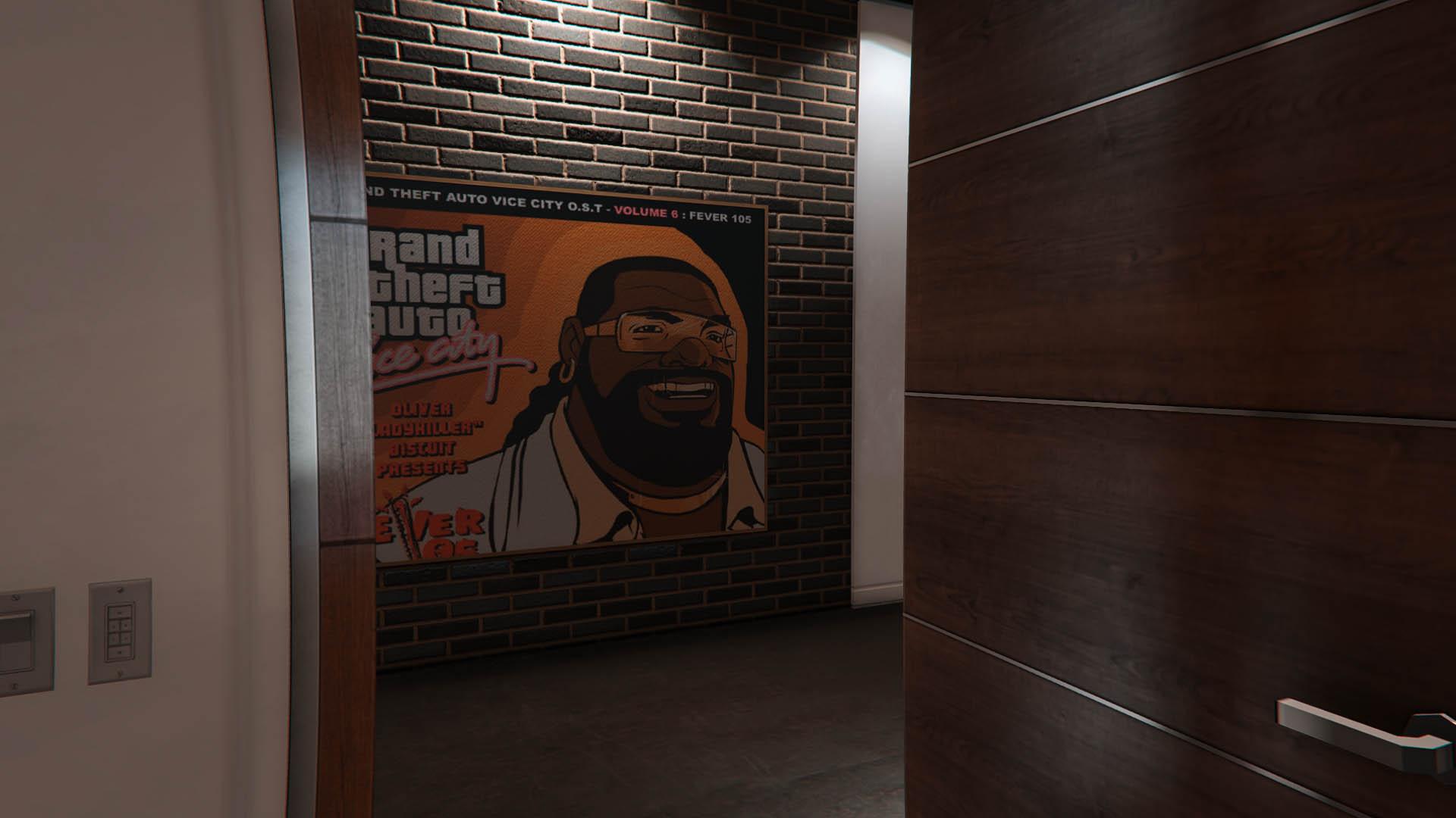 2016 Lancer Evolution >> GTA Vice City posters for Franklin's house - GTA5-Mods.com
