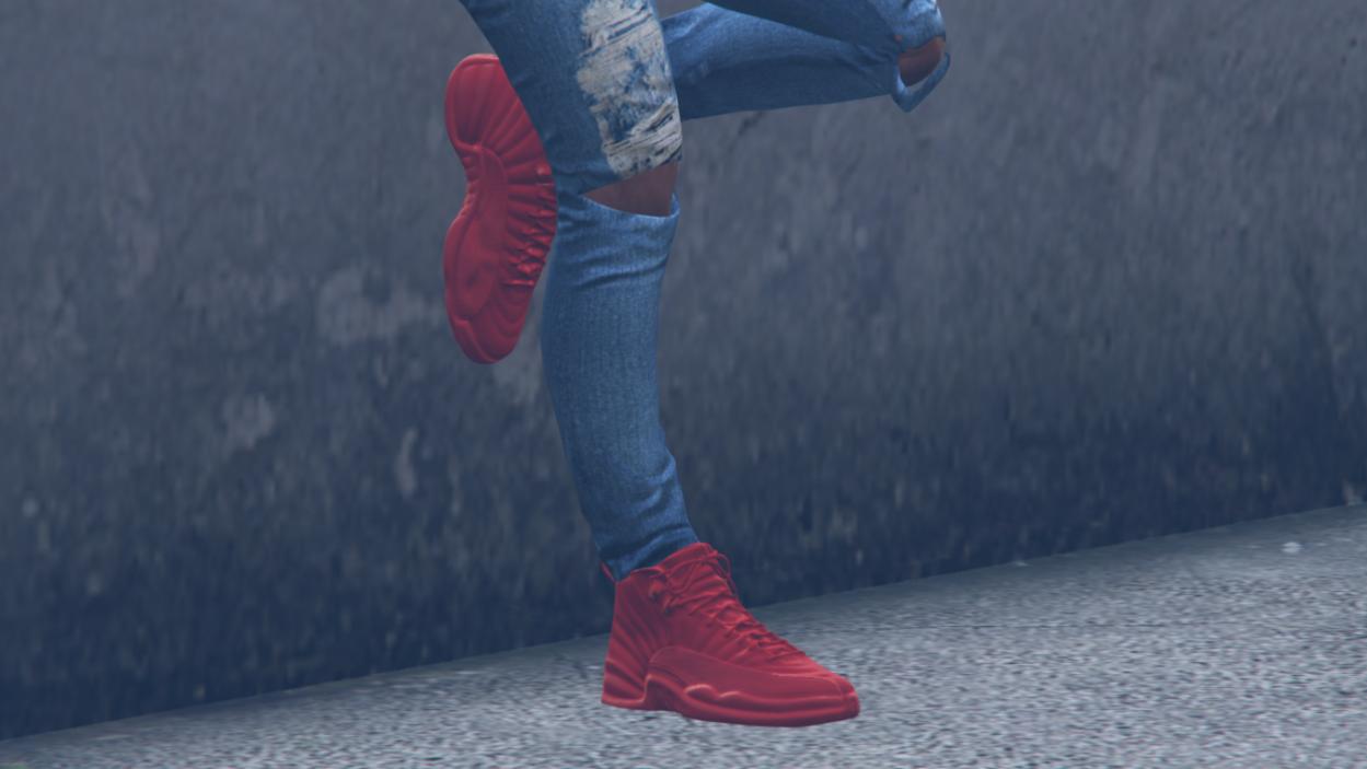 Gym Red Jordan 12's for Franklin - GTA5