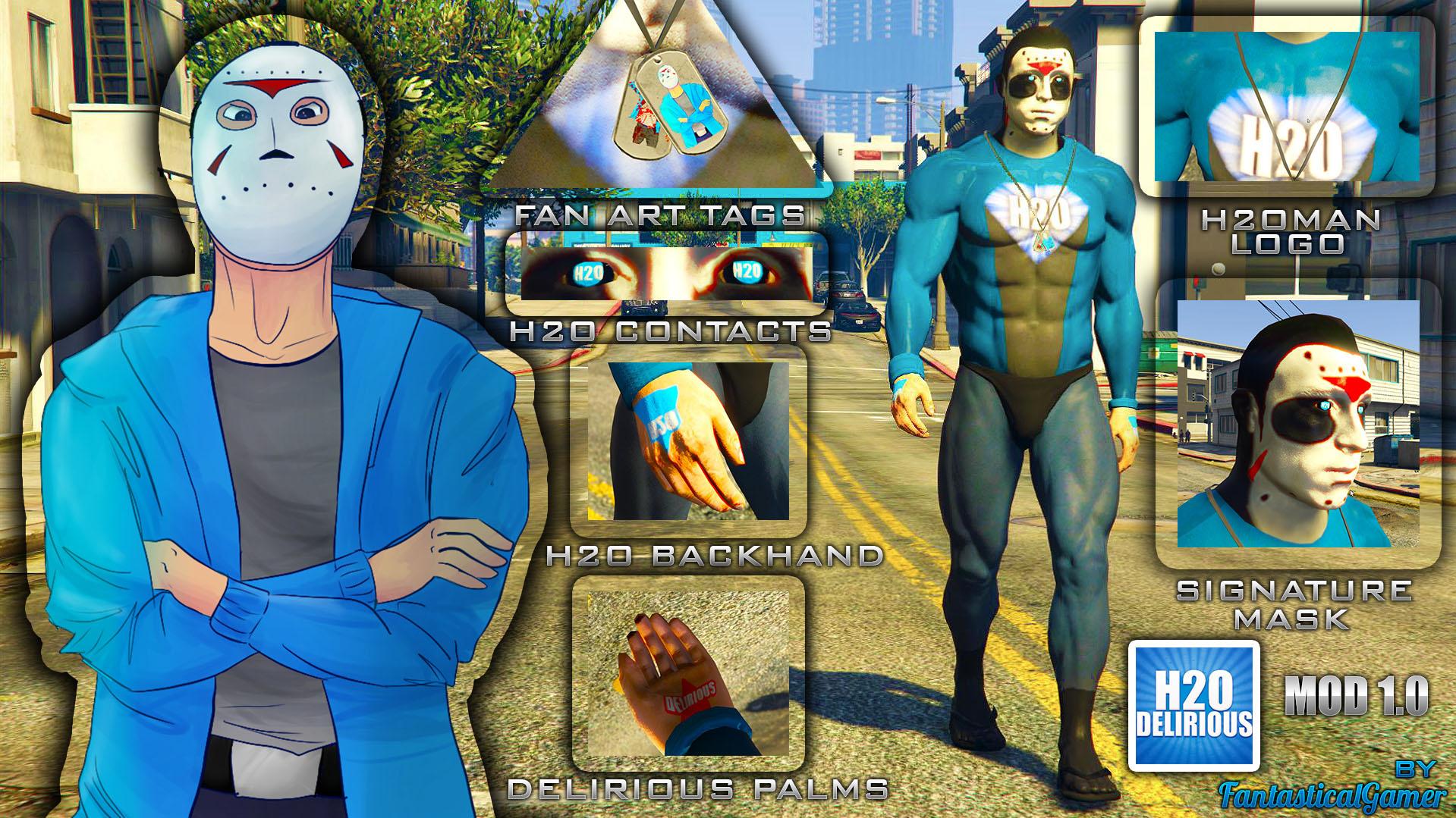 H2O Man (H2ODelirious Superhero Skin) - GTA5-Mods com