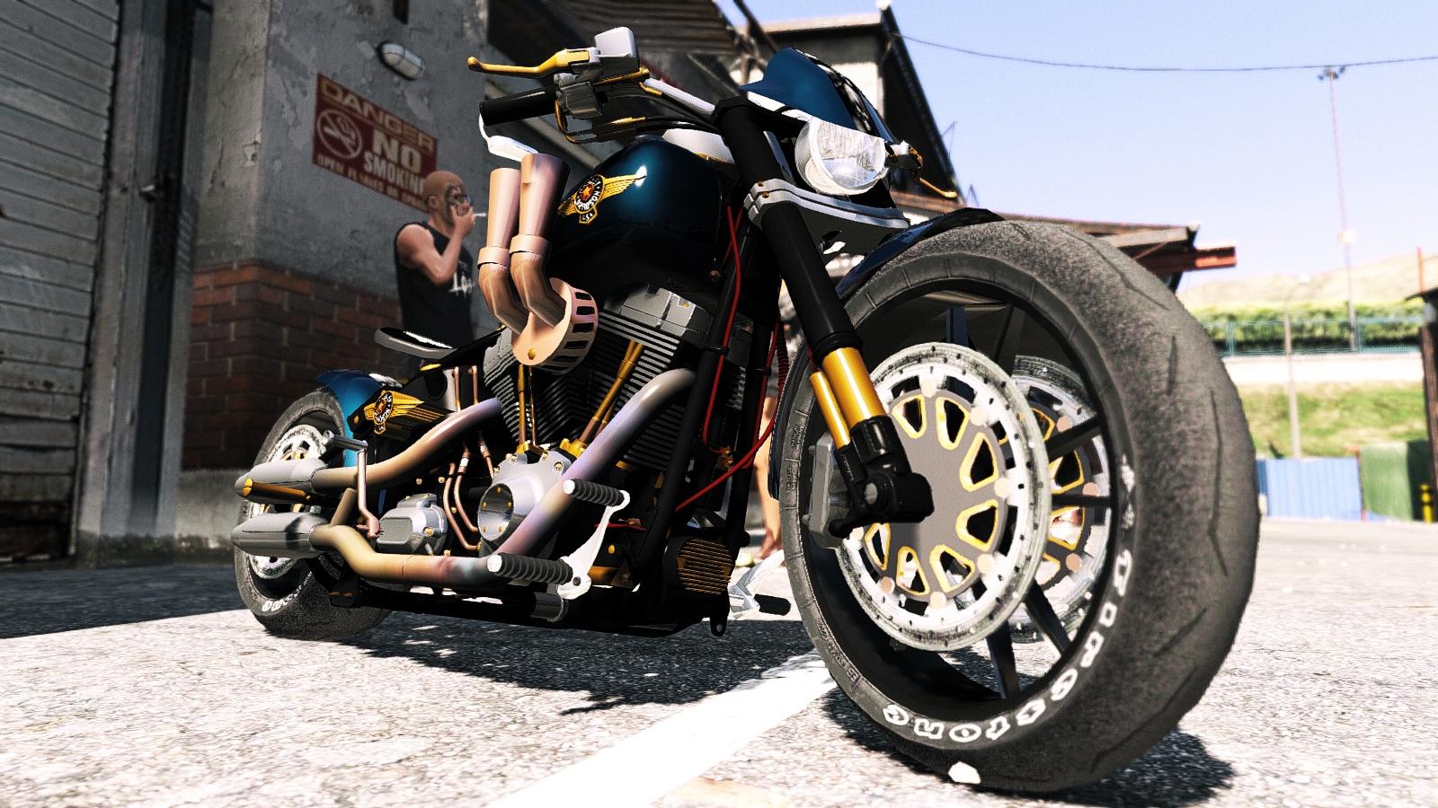 Harley Davidson Fat Boy Lo Racing Bobber Lost MC Custom Replace