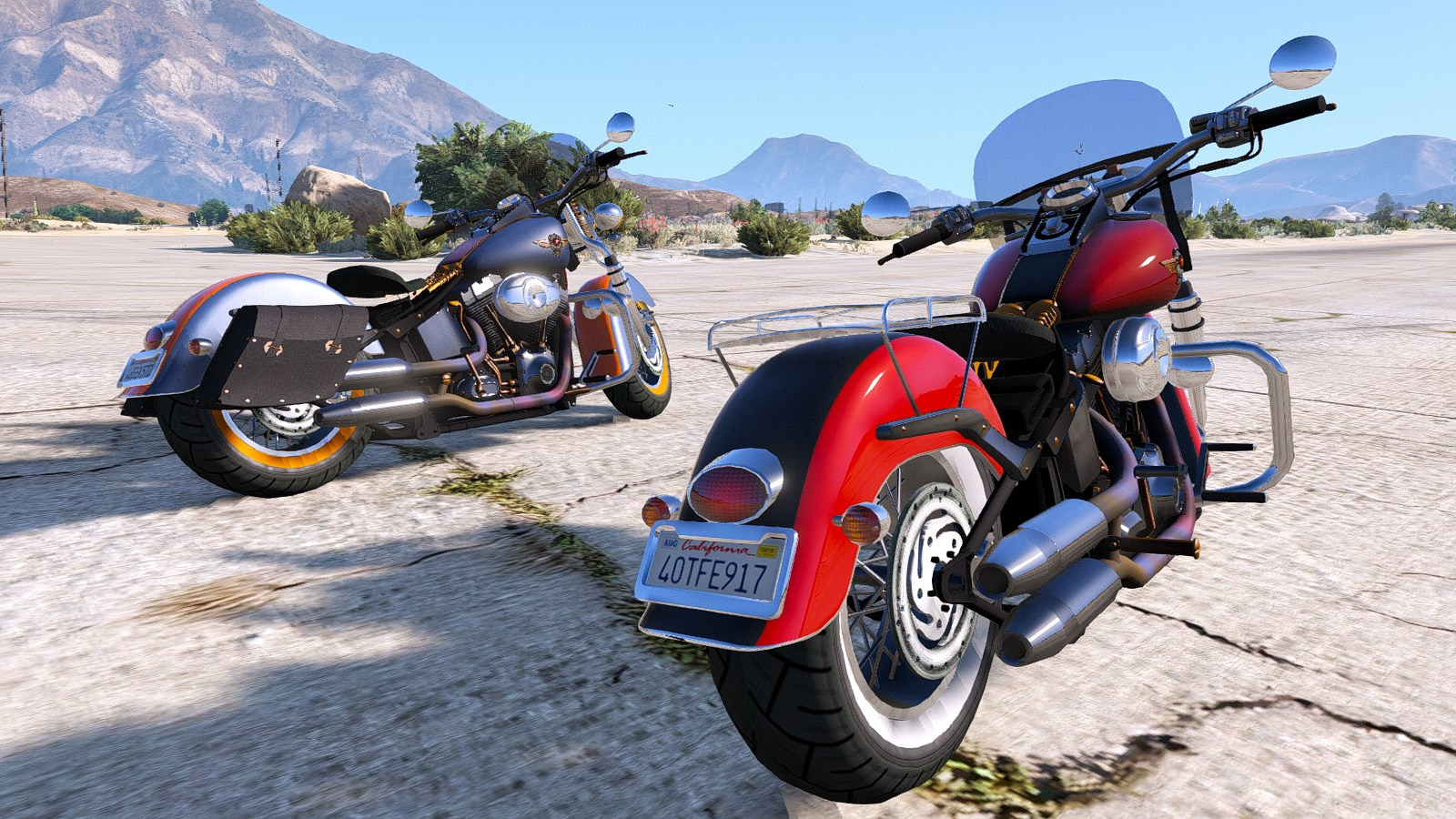 harley davidson fat boy lo vintage replace animated gta5. Black Bedroom Furniture Sets. Home Design Ideas